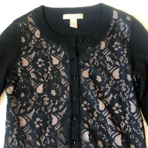 Banana republic lace cardigan